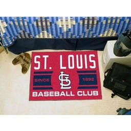 "Click here to learn more about the is Cardinals Baseball Club Starter Rug 19""x30""."