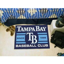 "Click here to learn more about the Bay Devil Rays Baseball Club Starter Rug 19""x30""."