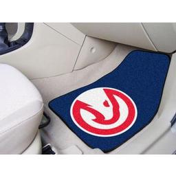 "Click here to learn more about the Atlanta Hawks 2-piece Carpeted Car Mats 17""x27""."