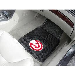 "Click here to learn more about the Atlanta Hawks Heavy Duty 2-Piece Vinyl Car Mats 17""x27""."