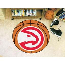 "Click here to learn more about the Atlanta Hawks Basketball Mat 27"" diameter."