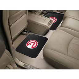 "Click here to learn more about the Atlanta Hawks Backseat Utility Mats 2 Pack 14""x17""."