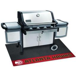"Click here to learn more about the Atlanta Hawks Grill Mat 26""x42""."