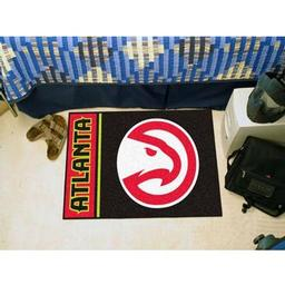 "Click here to learn more about the Atlanta Hawks Uniform Inspired Starter Rug 19""x30""."
