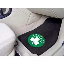 "Click here to learn more about the Boston Celtics 2-piece Carpeted Car Mats 17""x27""."