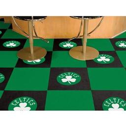 "Click here to learn more about the Boston Celtics Carpet Tiles 18""x18"" tiles."