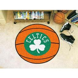 "Click here to learn more about the Boston Celtics Basketball Mat 27"" diameter."