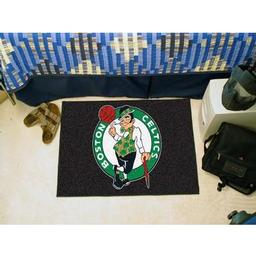 "Click here to learn more about the Boston Celtics Starter Rug 19"" x 30""."