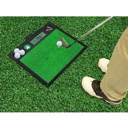 "Click here to learn more about the Boston Celtics Golf Hitting Mat 20"" x 17""."