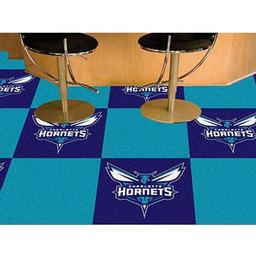 "Click here to learn more about the Charlotte Hornets Carpet Tiles 18""x18"" tiles."