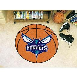 "Click here to learn more about the Charlotte Hornets Basketball Mat 27"" diameter."