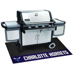 "Click here to learn more about the Charlotte Hornets Grill Mat 26""x42""."