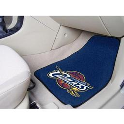 "Click here to learn more about the Cleveland Cavaliers 2-piece Carpeted Car Mats 17""x27""."