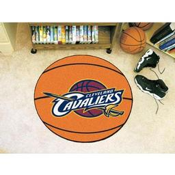 "Click here to learn more about the Cleveland Cavaliers Basketball Mat 27"" diameter."