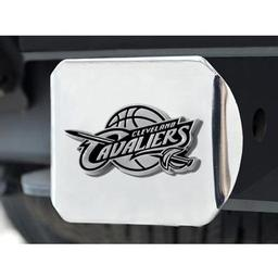 "Click here to learn more about the Cleveland Cavaliers Hitch Cover 4 1/2""x3 3/8""."