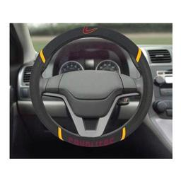 "Click here to learn more about the Cleveland Cavaliers Steering Wheel Cover 15""x15""."
