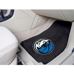 "Click here to learn more about the Dallas Mavericks 2-piece Carpeted Car Mats 17""x27""."