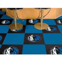 "Click here to learn more about the Dallas Mavericks Carpet Tiles 18""x18"" tiles."
