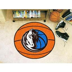 "Click here to learn more about the Dallas Mavericks Basketball Mat 27"" diameter."