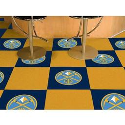 "Click here to learn more about the Denver Nuggets Carpet Tiles 18""x18"" tiles."
