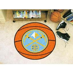 "Click here to learn more about the Denver Nuggets Basketball Mat 27"" diameter."