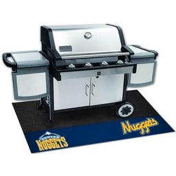"Click here to learn more about the Denver Nuggets Grill Mat 26""x42""."
