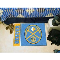 "Click here to learn more about the Denver Nuggets Uniform Inspired Starter Rug 19""x30""."