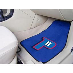 "Click here to learn more about the Detroit Pistons 2-piece Carpeted Car Mats 17""x27""."