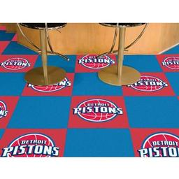 "Click here to learn more about the Detroit Pistons Carpet Tiles 18""x18"" tiles."