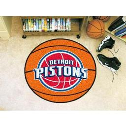 "Click here to learn more about the Detroit Pistons Basketball Mat 27"" diameter."
