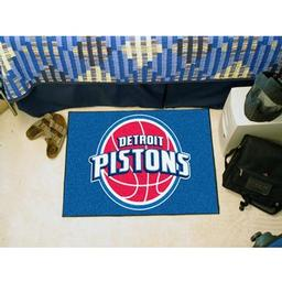 "Click here to learn more about the Detroit Pistons Starter Rug 19"" x 30""."
