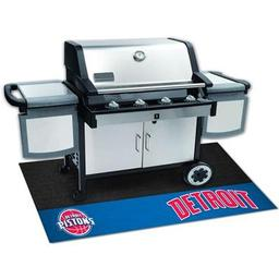 "Click here to learn more about the Detroit Pistons Grill Mat 26""x42""."