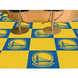 "Click here to learn more about the Golden State Warriors Carpet Tiles 18""x18"" tiles."