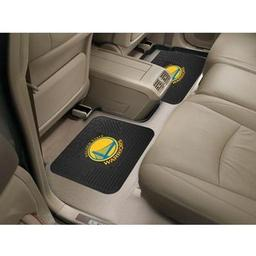 "Click here to learn more about the Golden State Warriors Backseat Utility Mats 2 Pack 14""x17""."