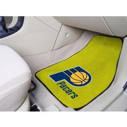 "Click here to learn more about the Indiana Pacers 2-piece Carpeted Car Mats 17""x27""."