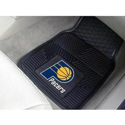 "Click here to learn more about the Indiana Pacers Heavy Duty 2-Piece Vinyl Car Mats 17""x27""."