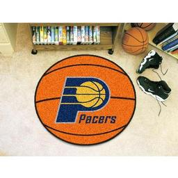 "Click here to learn more about the Indiana Pacers Basketball Mat 27"" diameter."