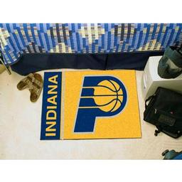 "Click here to learn more about the Indiana Pacers Uniform Inspired Starter Rug 19""x30""."