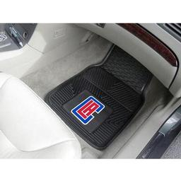 "Click here to learn more about the Los Angeles Clippers Heavy Duty 2-Piece Vinyl Car Mats 17""x27""."