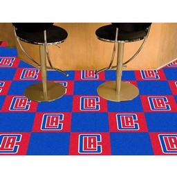 "Click here to learn more about the Los Angeles Clippers Carpet Tiles 18""x18"" tiles."