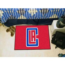 "Click here to learn more about the Los Angeles Clippers Starter Rug 19"" x 30""."