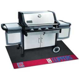 "Click here to learn more about the Los Angeles Clippers Grill Mat 26""x42""."