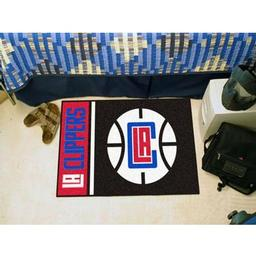 "Click here to learn more about the Los Angeles Clippers Uniform Inspired Starter Rug 19""x30""."