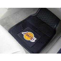 "Click here to learn more about the Los Angeles Lakers Heavy Duty 2-Piece Vinyl Car Mats 17""x27""."