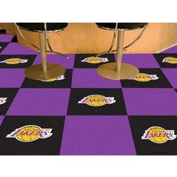 "Click here to learn more about the Los Angeles Lakers Carpet Tiles 18""x18"" tiles."
