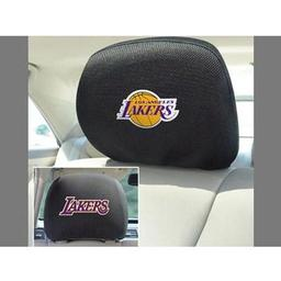 "Click here to learn more about the Los Angeles Lakers Head Rest Cover 10""x13""."