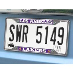 "Click here to learn more about the Los Angeles Lakers License Plate Frame 6.25""x12.25""."