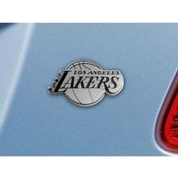 "Click here to learn more about the Los Angeles Lakers Emblem 2.3""x3.7""."