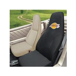 "Click here to learn more about the Los Angeles Lakers Seat Cover 20""x48""."