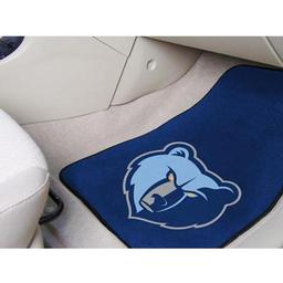 "Click here to learn more about the Memphis Grizzlies 2-piece Carpeted Car Mats 17""x27""."